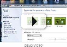 vídeo de demostración Fences Organiza, agrupa y limpia tu escritorio. No es Gratuito :( mucho menos libre :(