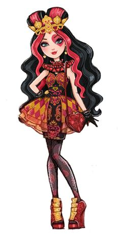 Lizzie Hearts Lizzie Hearts is a 2013-introduced and all-around character. She is part of Alice's Adventures in Wonderland as the next Queen of Hearts, and she is a student at Ever After High. In the destiny conflict, she is on the Royal side because of years of family dedication, practice, and belief of destiny in general. Per their escape to Ever After, all the escaped Wonderlandians transferred from Wonderland High to Ever After High.