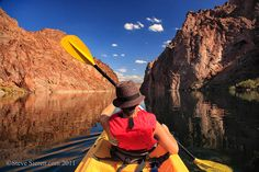 kayaking down the Colorado River in the Mojave Desert