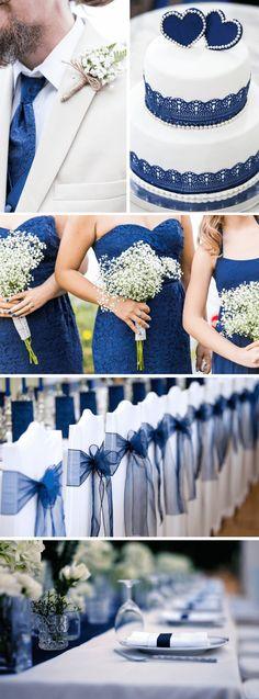 30 inspiring ideas for a wedding in dark blue - wedding box - Beautiful dark blue wedding inspiration to imitate - Cactus Wall Art, Cactus Print, Diy Wedding Hair, Blue Wedding, Wedding Stuff, Wedding Dress, Wedding Color Schemes, Wedding Colors, Wedding Presents For Newlyweds