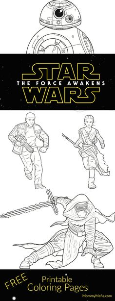 Star Wars The Force Awakens Coloring Pages and Activities Star - best of star wars coloring pages the force awakens
