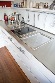 Rostfri diskbänk i ett IKEA Metod kök / Stainless steel - bespoken ...