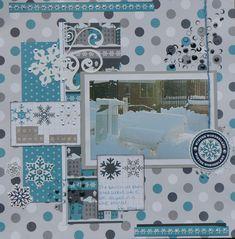 Park Bench Blues - Scrapbook.com Echo Park - Let It Snow Collection