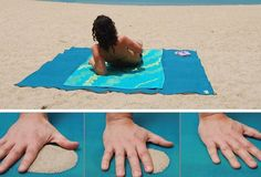 Nobody likes sand all over their beach mat when they're about to sun bathe! So be prepared with the sand free beach mat. With its patented dual layer mesh technology, it allows sand to fall straight through leaving the mat free from sand! Awesome!