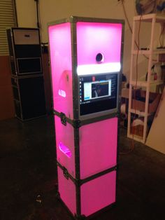 LED Portable Photo Booth Shell or Enclosure for your Rental Business; tons of photobooth options