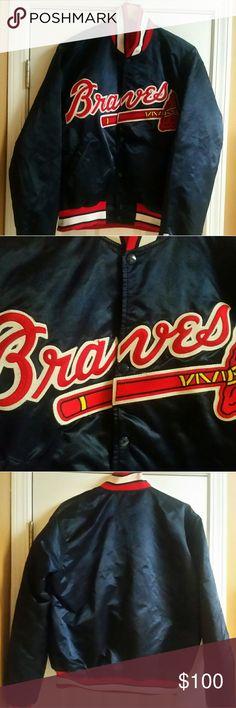 Atlanta Braves Starter Jacket EUC - Vintage 90's Starter Jacket MLB Atlanta Braves Nylon Shell STARTER Jackets & Coats Bomber & Varsity