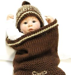 knitting for babies - cocoon | Knitting Pattern, Baby Cocoon & Matching Beanie, Cocoon is featured ...