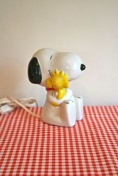 vintage ceramic lamp  SNOOPY 80s peanuts character by LittleMsTips, $28.00