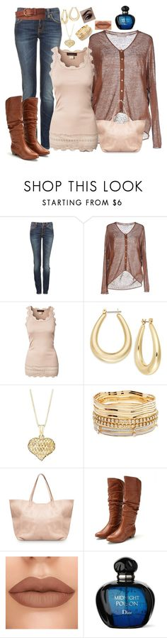 """""""Beauty in Beige & Brown"""" by melissa-markel ❤ liked on Polyvore featuring Nudie Jeans Co., Stefanel, Rosemunde, Charter Club, Charlotte Russe, MANGO, Steve Madden and White Stuff"""