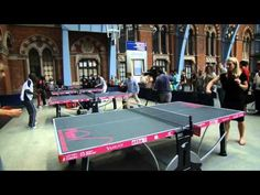 PING LONDON 2010 With CORNILLEAU...Outdoor Table Tennis Set available in San Diego at Olhausen Gamerooms and Outdoors
