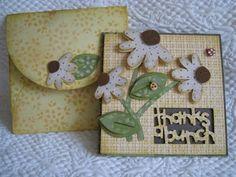 Envelope and Card... Cricut Walk in my Garden Cartridge.  *