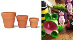 Bricoler les pots en terre cuite de façon adorable! 5 modèles à voir! Green Garden, Planter Pots, Projects To Try, Decor, Cover, Table, Terracotta, Decoration, Dekoration