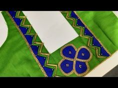 Beautiful patch work blouse designs for new beginners/blouse design - YouTube