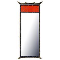 Parcel Gilt Pagoda Style Enameled Panel Trumeau Mirror   1stdibs.com