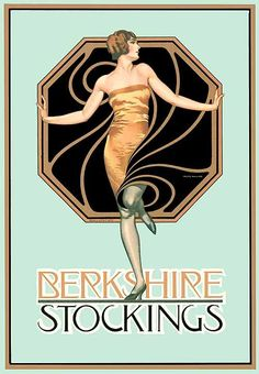 Berkshire Stockings by Coles Phillips (note the strong background motif) nice classy design