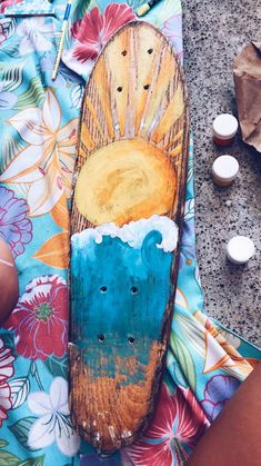 Ideas Skateboard Art Design Fun – Famous Last Words Skateboard Design, Skateboard Art, Painted Skateboard, Longboard Design, Body Painting, Painting & Drawing, Do It Yourself Baby, Aesthetic Painting, Art Sculpture