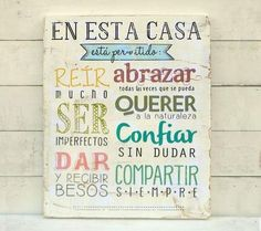Carteles de madera para decorar nuestra casa Beautiful Words, Decoration, Decoupage, Diy And Crafts, Projects To Try, Wood Projects, Sweet Home, Shabby Chic, Design