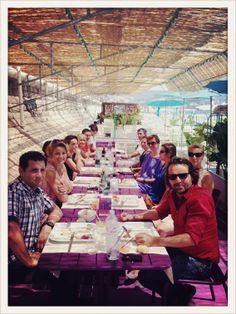 Déjeuner équipe DSC et #OPS2 au HIbeach de Nice, juillet 2013.