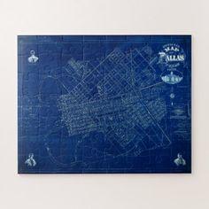 Dallas texas official 1875 detailed blueprint map jigsaw puzzle dallas texas official 1875 detailed blueprint map jigsaw puzzle malvernweather Gallery
