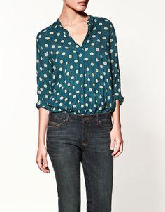 Polka dot printed blouse $59.90