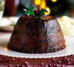 Last-minute Christmas pudding recipe - Recipes - BBC Good Food Chocolate Christmas Pudding, Chocolate Pudding Recipes, Bakewell Tart, Mince Meat, Nigella Lawson, Bbc Good Food Recipes, Xmas Recipes, Xmas Food, Sweet Treats