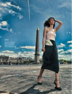 la parisienne: ruby aldridge by taki bibelas for l'officiel paris august 2013
