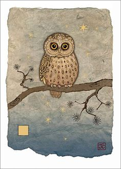 BugArt Paper & Foil ~ Night Owl. PAPER & FOIL Designed by Jane Crowther.