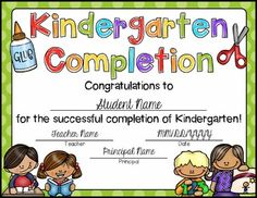 11 best kindergarten certificate images preschool graduation