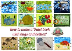 How to make a Quiet book with bugs and beetles? 10 pages with creepy crawlers and one I spy page. Softbook Activity book Patterns Bugs