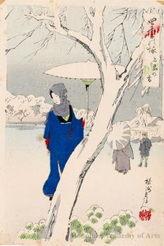 Toyohara Chikanobu Title:Snow at Shinobazu Date:c. 1890s