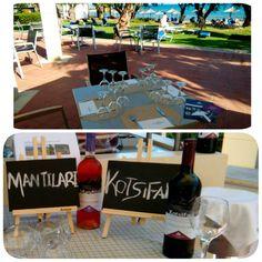 #Cretan #malia #park #preparing our #wine #tasting with #cretan #varieties #plyto #mantilari #kotsifali #lyrarakis #wines #foutouris