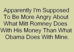 AMEN!!!!!  TIRED OF CORRUPT OBAMA TEAM...TIME FOR A WINNER, NOT A GOLF PLAYER AND PARTY HOST WHO HATES BUSINESS OWNERS.