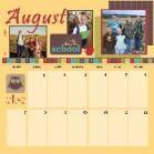 First half of August Calendar