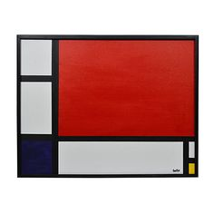 Pre-Owned Abstract with Red ($625) ❤ liked on Polyvore featuring home, home decor, wall art, red home decor, red abstract painting, abstract oil painting, abstract home decor and red wall art