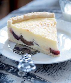 Švestkový koláč s vanilkovým krémem Czech Recipes, Plum Cake, Something Sweet, Sweet Tooth, Cheesecake, Food And Drink, Pudding, Sweets, Cookies