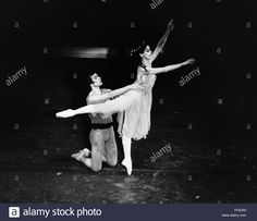 RUDOLF NUREYEV (1938-1993). /nRussian ballet dancer. With Dame Margot Fonteyn in 1975. Stock Photo
