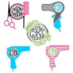 Hair dresser Hairdresser Svg Designs Monogram Pack by CuttableSVG