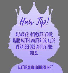 Natural Hair, Hair Care, Hair Tip, Natural Hair Inspiration #aloevera #hairtips #hair #naturalhair #haircare