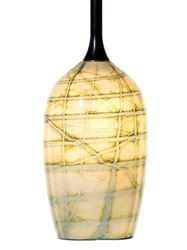Show details for Canale Ivory Green Glass Pendant