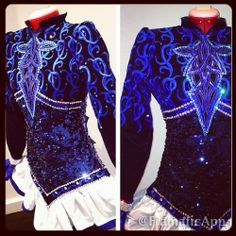 the embroidery and layout of this dress is gorgeous! the blue/black combo is striking! (Loretta)