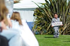 Classic Ring Bearer Photo ... Cute Wedding Sign... the cliffs wedding photos