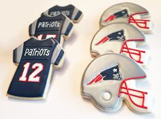 New England Patriots Cookies by JKCFineArt on Etsy https://www.etsy.com/listing/225873584/new-england-patriots-cookies