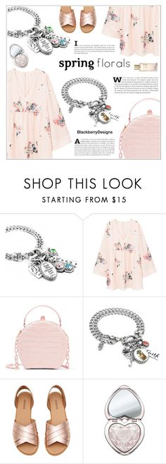 """""""Spring Florals"""" by shambala-379 ❤ liked on Polyvore featuring MANGO, Nancy Gonzalez, Too Faced Cosmetics and Estée Lauder"""