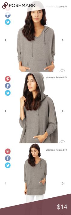 Alternative Apparel Poncho Sweatshirt Versatile streetwear for the modern woman. Sweatshirt fits loosely on torso and is fitted on the arms. Size is missing but it fits like a small/medium. Alternative Apparel Sweaters Shrugs & Ponchos