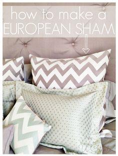 How to Make a European Pillow Sham