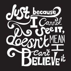 Seeing isn't believing