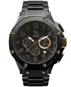 Meister - Ambassador Stainless Steel Watch (Black/Gold) $400