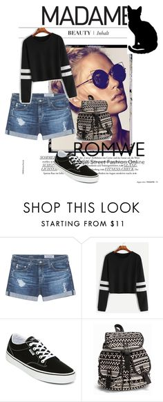 """""""Bez naslova #29"""" by almina21 ❤ liked on Polyvore featuring AG Adriano Goldschmied, Vans and NLY Accessories"""