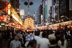 "Gion Matsuri festival, July in Kyoto  ""yoi-yoi-yoi yama"", the first of three festival evenings  Shijo St.  Jeffrey Friedl"