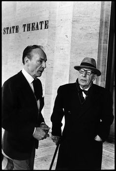 .George BALANCHINE and Igor STRAVINSKY. 1965 - Photo Elliott Erwitt